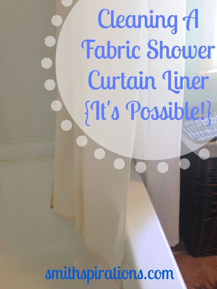 The Easy Nontoxic Way To Clean A Fabric Shower Curtain Liner