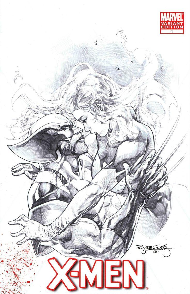 Wolverine and Jean Grey - Phoenix by Stephen Segovia