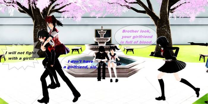 Mmd Yandere Simulator Without A Teacher By Stefy5000 On Deviantart Yandere Simulator Yandere Sims Memes