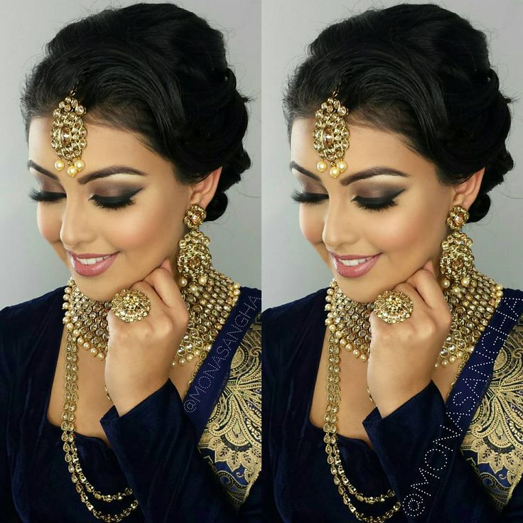 Miraculous 1000 Ideas About Indian Bridal Hair On Pinterest Indian Bridal Short Hairstyles For Black Women Fulllsitofus