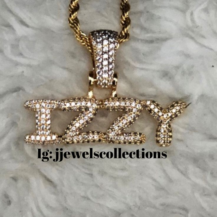 23++ Bubble letter name necklace ideas in 2021