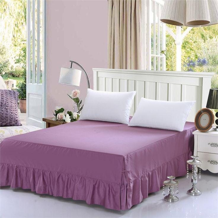 ベッドスカート シーツ 寝具 シンプル 綿 二藍色 150*200cm B6006