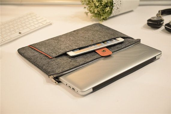 Zipper Felt Macbook 15 Sleeve Felt Macbook 15 by JYcustomworkshop