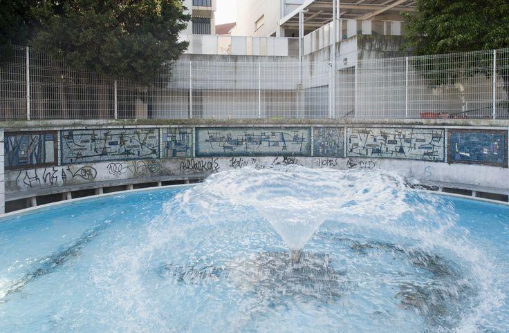 Manuel Cargaleiro | Jardim Municipal de / Municipal Garden of Almada | 1956 #Azulejo #ManuelCargaleiro #Almada