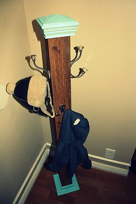 DIY coat hanger.  Need this for the boys room, girls room, etc!