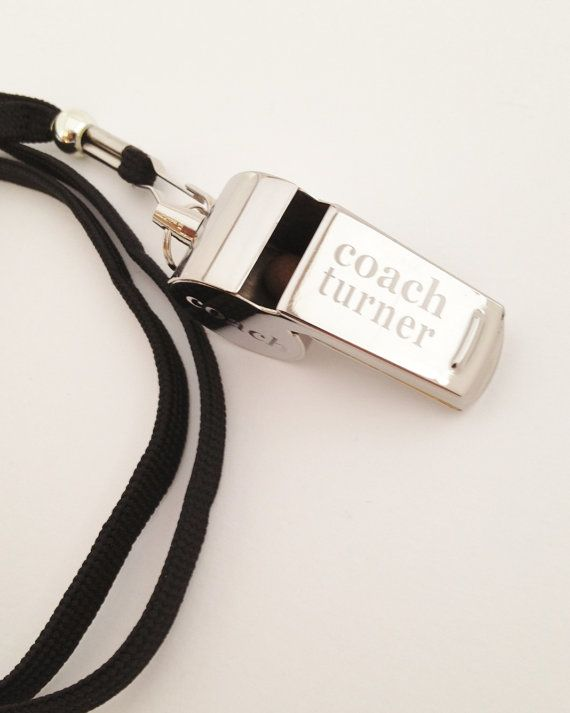 Personalized Whistle Engraved Coaches Gift by netexchange on Etsy, $20.95