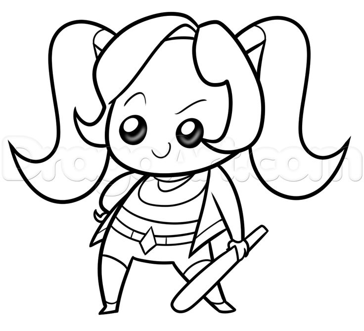Draw Kawaii Harley Quinn, Step by Step, Dc Comics, Comics, FREE Online Drawing Tutorial, Added by Dawn, August 2, 2016, 1:25:08 pm