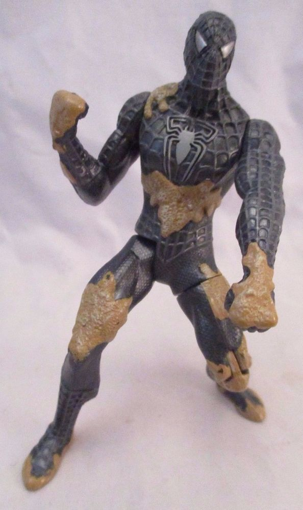 SPIDERMAN 3 Super Kick Black Suit Spider-Man 5in Movie Action Figure Hasbro 2006 #Hasbro