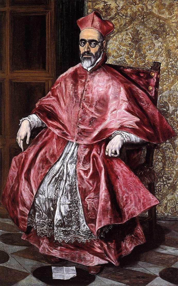 El Greco -Portrait of a Cardinal (Probably Cardinal Don Fernando Niño de Guevara) -c.1598