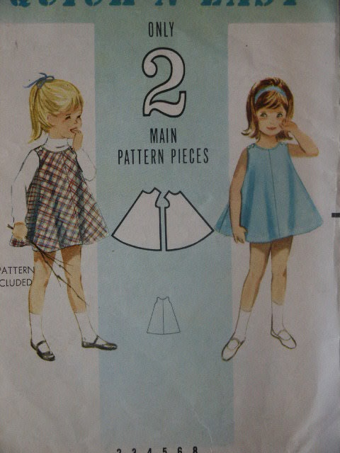 Vintage 1960s Girls Circle Dress Butterick 3097 Sewing Pattern Quick N Easy Child Size 6. $6.00, via Etsy.