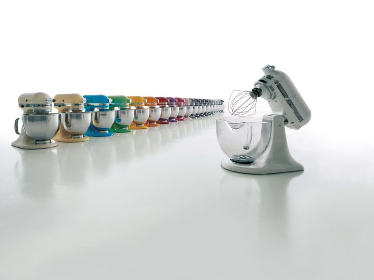 The Artisan Tilt-Head Stand Mixer is available in 30 delicious colours!