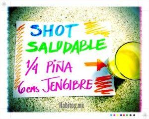 Shot: piña y jengibre