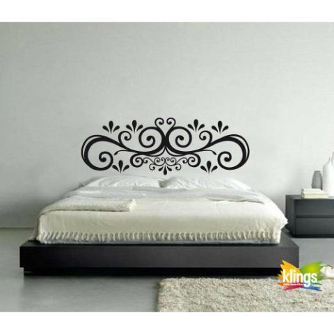 Vinilos decorativos respaldar cama matrimonial wall Murales para recamaras matrimoniales