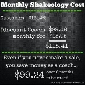 shakeology cost as a coach... you SAVE money by NEVER even referring somebody! www.bravegirlfitness.com