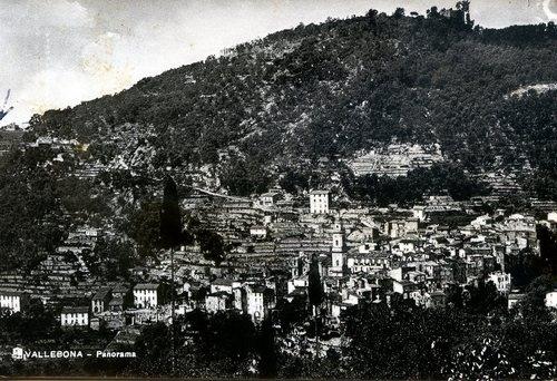 Vallebona (IM), in una cartolina d'epoca    Archivio: Giulio Rigotti