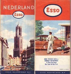 Esso map Netherlands 1956