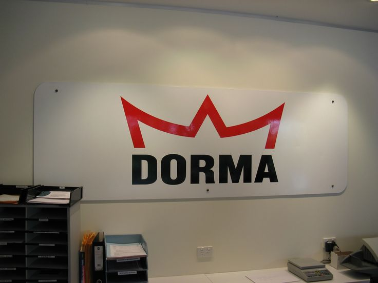 Dorma #CSI #reception #signage