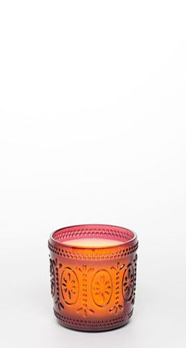 "4"" Ameila Glass Jar w/ Programmable Timer, Rose"
