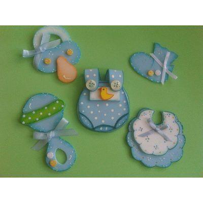 Distintivos,recuerdos Nacimiento,baby Shower Foami - Bs. 25,00 en MercadoLibre