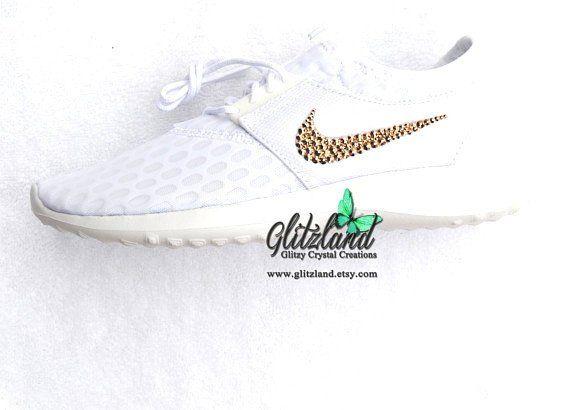 3cf8db90f26d1 Swarovski Women's White Wedding Prom Nike Juvenate Customized with ...