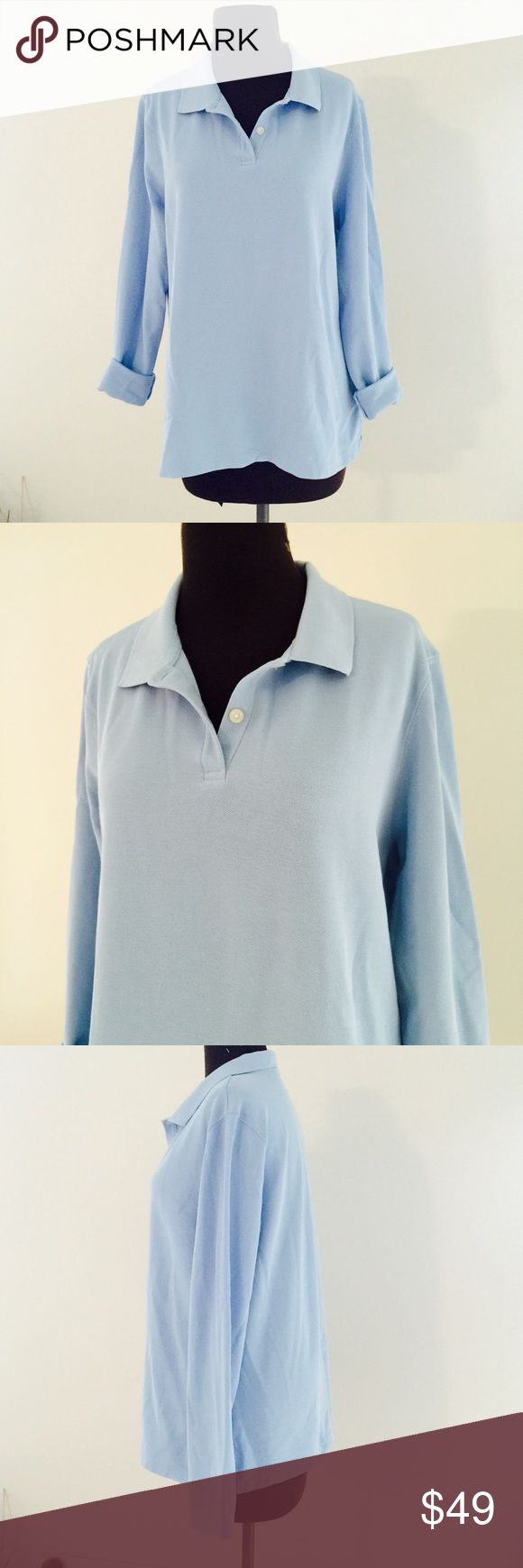 ❗️LL Bean Women Sky Blue Long Sleeve Polo MSRP $89 ❗️LL Bean Sky Blue Women's Long Sleeve Polo. Size XL. Retails $89. In great condition! Make an offer! I consider all reasonable offers on items & give great bundle deals! Winter cleanout sale ;-) L.L. Bean Tops