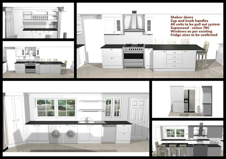 Kitchen design proposal for a client in Mossel Bay