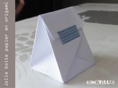 pliage papier : une boite origami