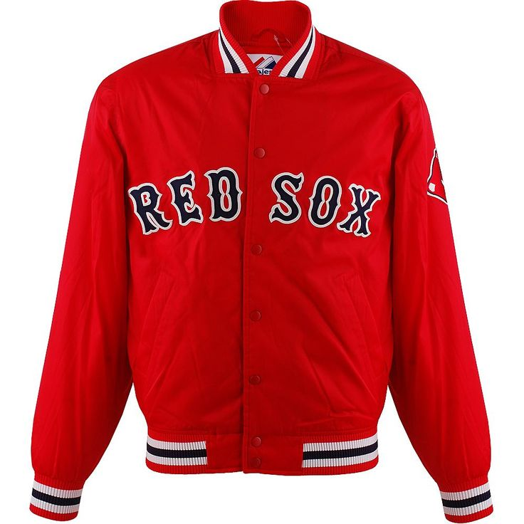 Boston Red Sox Satin Jacket    Die Boston Red Sox sind eine amerikanische Baseballmannschaft und spielen in der Major League. Die Major League ist jeweils noch mal unterteilt in der National und American League. Die Boston Red Sox spielen in der Eastern Division der American League. Im Fenway Park werden die Heimspiele der Red Sox ausgetragen. Aufgrund ihrer großen nationalen Fangemeinde wird d...