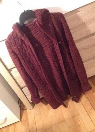 Kup mój przedmiot na #vintedpl http://www.vinted.pl/damska-odziez/dlugie-swetry/10602996-bordowy-sweter-sweter-hm