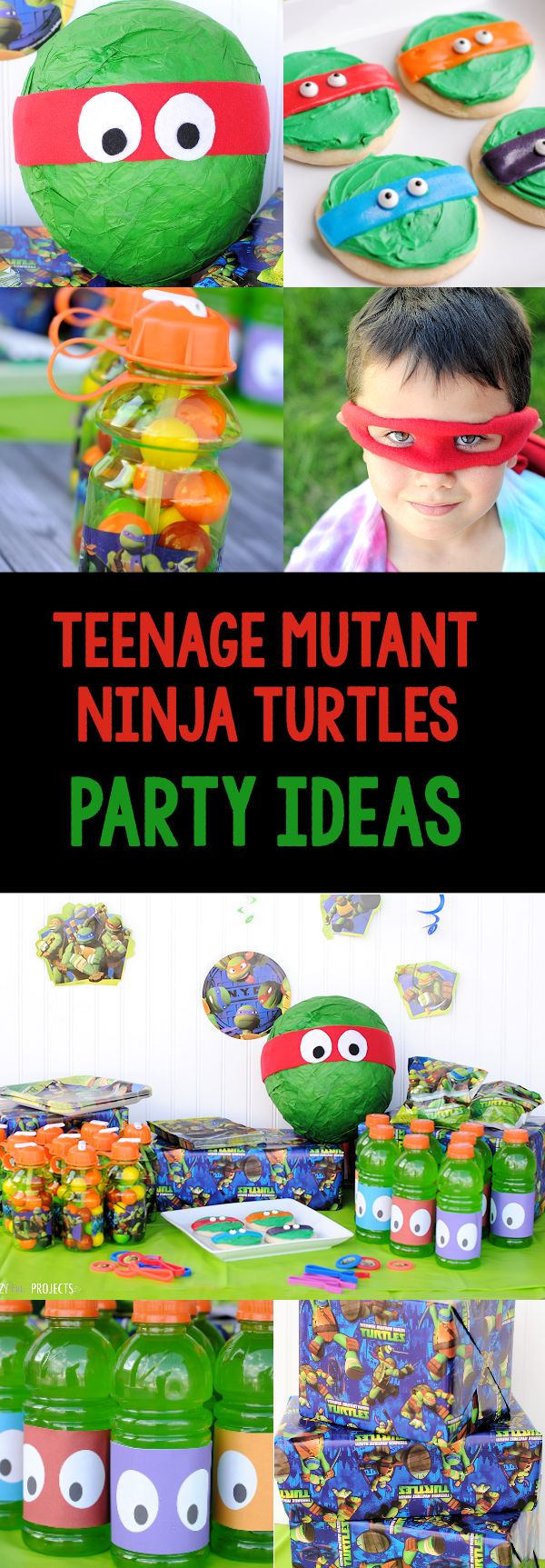 Teenage Mutant Ninja Turtles Party Ideas-Games, Invitations, Favors, Food & More // crazylittleprojects.com // #partyidea #ninjaturtles #HRS