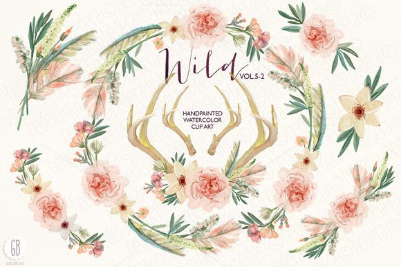 Wild collection extras VOL.5-2 by GrafikBoutique on Creative Market