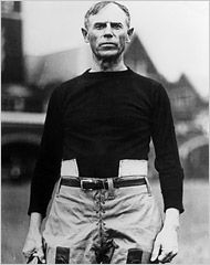 John Heisman, L'92. The Heisman Trophy is named after him; he was also the President of the American Football Coaches Association and served as head football coach at Penn 1920-1922.