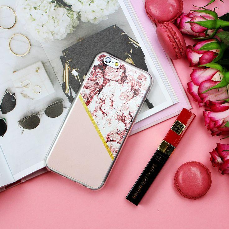 Marble Gold Case for iPgone 6s <3 Marmurowe etui ze złota aplikacją: dostępne dla wielu modeli telefonów #flatlay #photo #photography #marble #case #etui #marmuroweetui #style #fashion