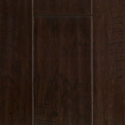 "5"" Chocolate Hickory Hand Scraped Hardwood Flooring - Real Wood Floor Sample"