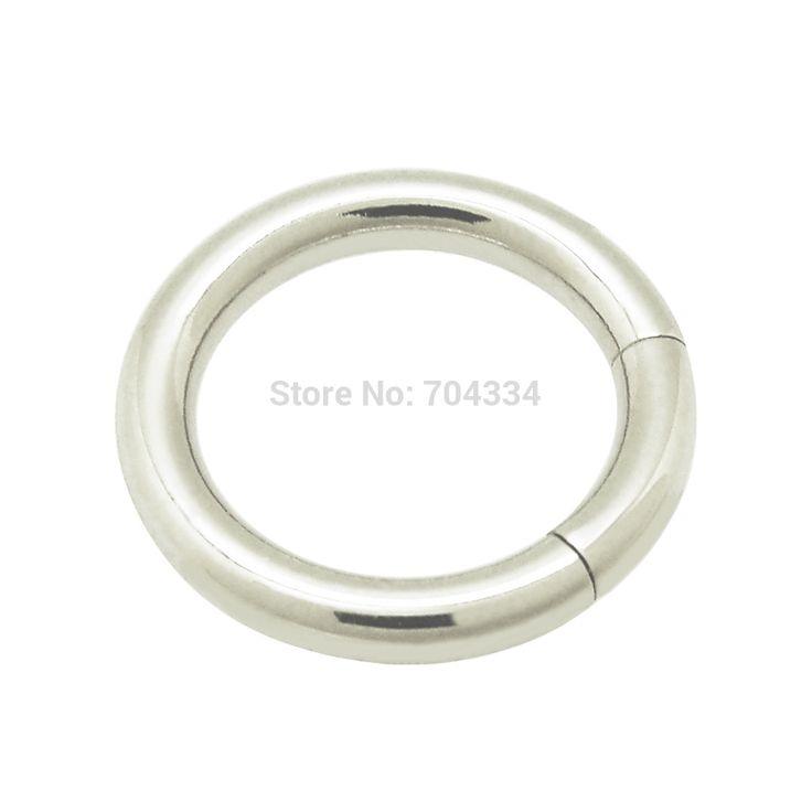 2 мм х 10 мм Хирургическая Сталь Сегмент Кольца для Носа Уха Губы Соски Кольцо