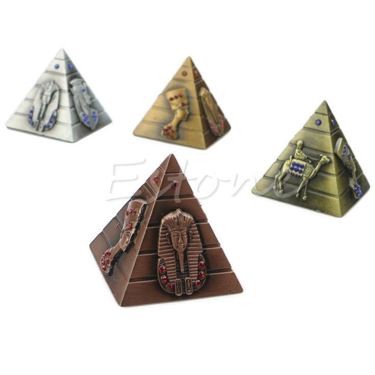Pirámide Decoración Del Hogar Para El Faraón Egipcio Avatar Camello de Metal Rhinestone Adornos Nueva