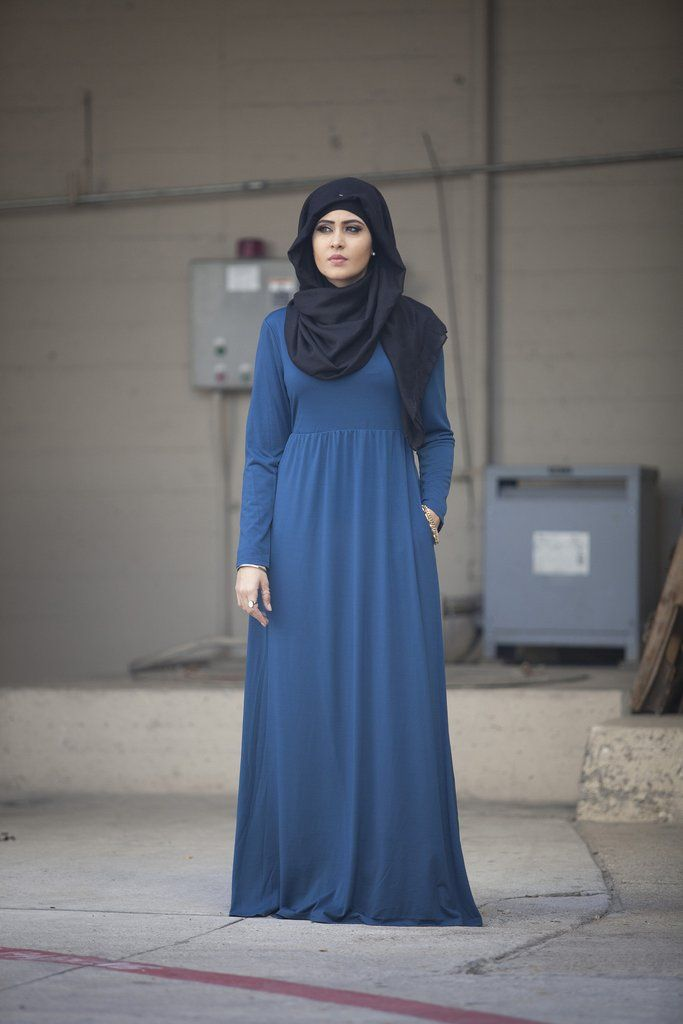 Melania Long Sleeve Maxi Dress- Teal | Verona Collection UK