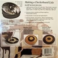 checkerboard cake pan instructions
