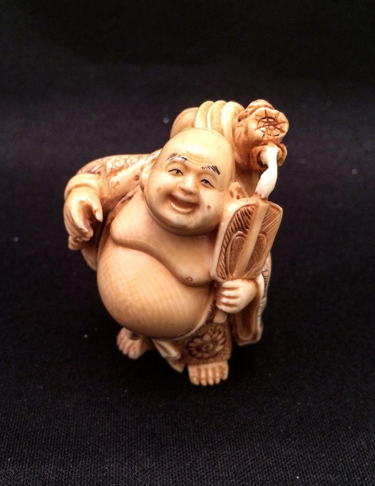 Japanese netsuke carving