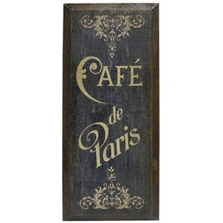 Dark Blue U0026 Brown Cafe De Paris Wood Wall Decor | Shop Hobby Lobby.....just  Bought This! | Kitchen | Pinterest | Brown Cafe, Blue Brown And De Paris