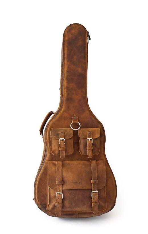 leather guitar case guitar guitarra pinterest. Black Bedroom Furniture Sets. Home Design Ideas