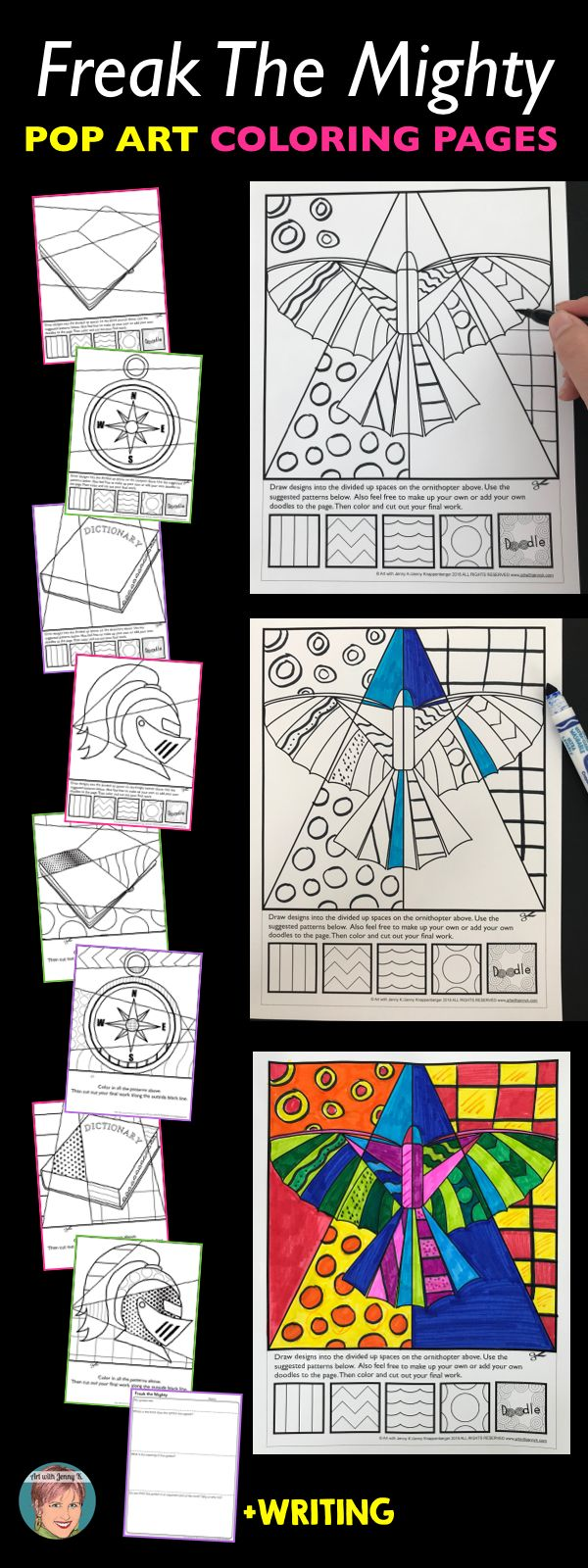 12 best coloring images on pinterest coloring books for Freak the mighty coloring pages