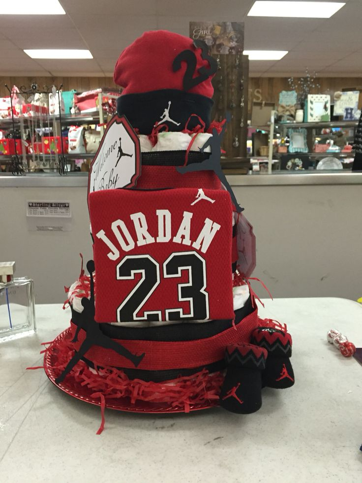 lil jordans baby shower my first grand baby jordan jump man theme