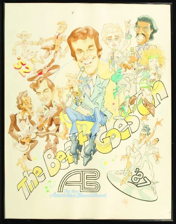american bandstand caricature | 1435: * The New American Bandstand cartoon : Lot 1435