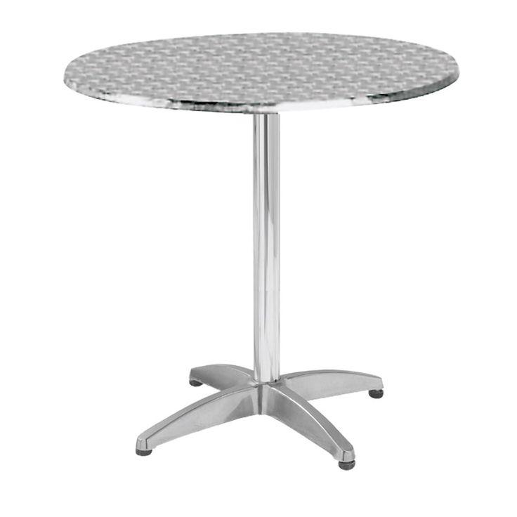 Palma garden food table aluminum D70x70 Ε284,1