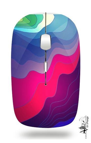 Souris optique sans fil avec récepteur usb Lignes floues