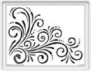 Stampendous Stencil Large Flourish [DWLJ896]