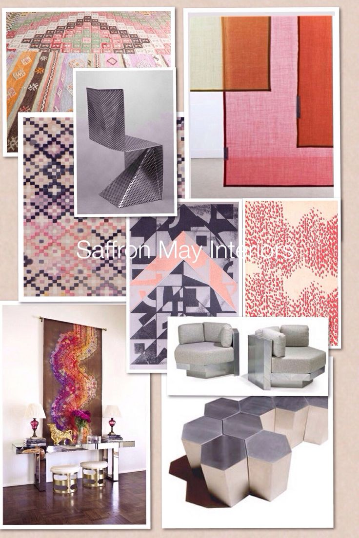 Saffron May Interiors Pink And Orange Mood Board Interior Design Home Decor