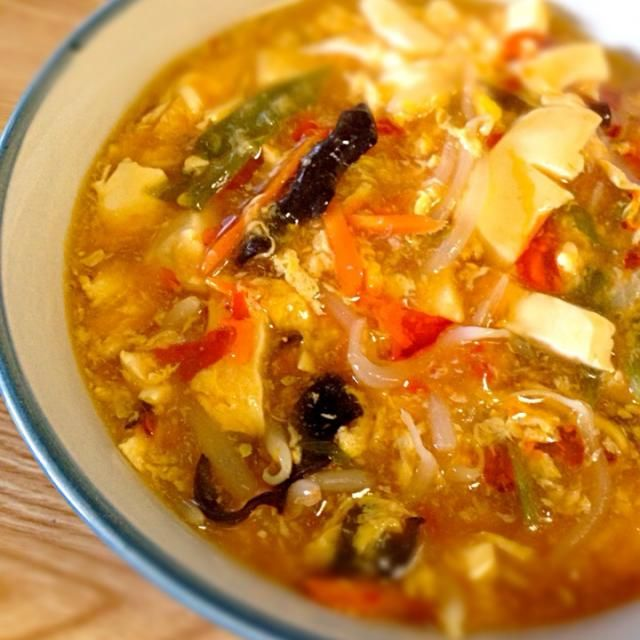 インスタントラーメンで、簡単な酸辣湯麺★ - 23件のもぐもぐ - なんちゃって酸辣湯麺♡1202 by TAREMEGUMA