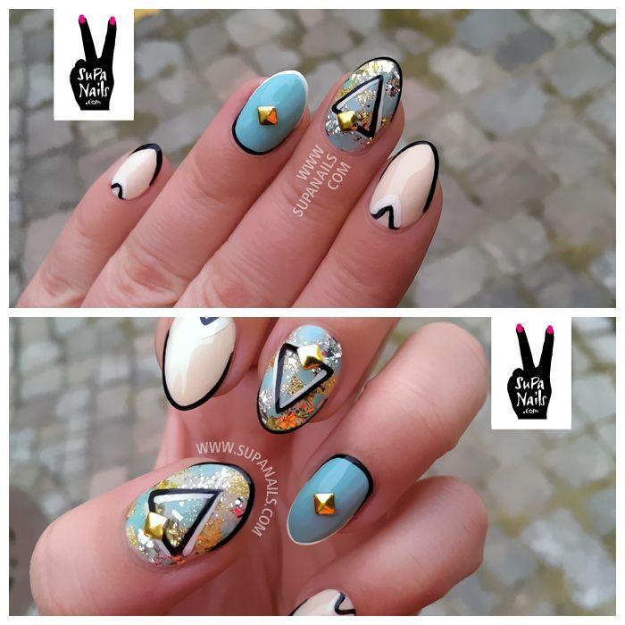 supa nails colorful gold - photo #15